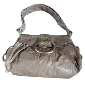 Guess shoulder bag in gray with mint green lining